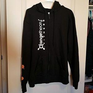 Orange theory black hoodie sweatshirt
